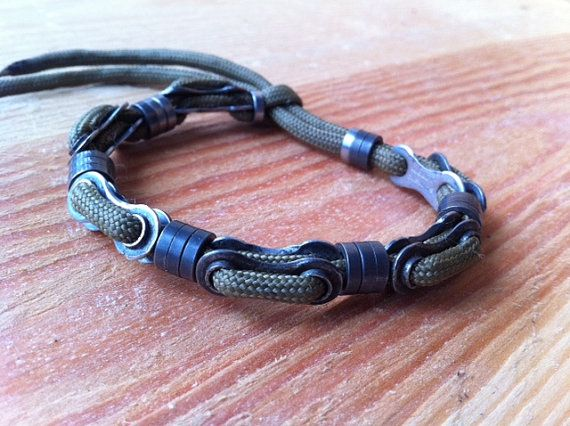 BiCYCLE CHAIN BRACELET by ReGEARED on Etsy, $15.00
