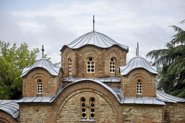 The Pantelejmon Monastery of Vodno near Skopje.