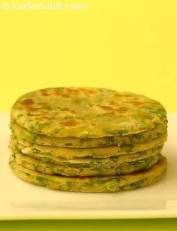 Paushtic Roti:  This roti is a nutritious combination of a cereal and a pulse along with a green leafy vegetable, enhanced further by the addition of milk or curds. All of these contribute to make this dish rich in folic acid, iron, protein and calcium.  Have these rotis instead of the plain whole wheat chapatis we usually eat.