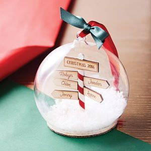 Deck the halls! These Personalised Family Christmas Sign Post Baubles are the perfect edition to your home this Christmas. As seen at Stylist Live.