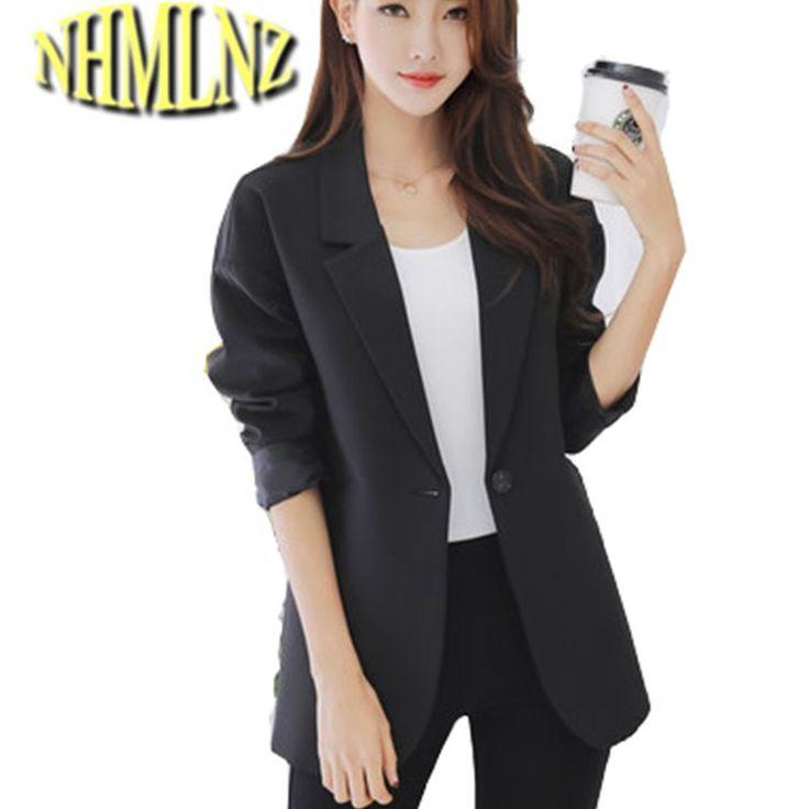 2017 New spring Autumn Women Blazer Fashion Long sleevesSolid Colors Blazers one Button office Ladies Blazer Women coat OK506 #Affiliate