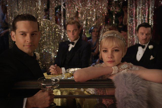 Leonardo DiCaprio, Tobey Maguire, Joel Edgerton and Carey Mulligan in The Great GatsbyFilm, The Great Gatsby, Leonardodicaprio, Carey Mulligan, Thegreatgatsby, Baz Luhrmann, Movie, Leonardo Dicaprio, Careymulligan