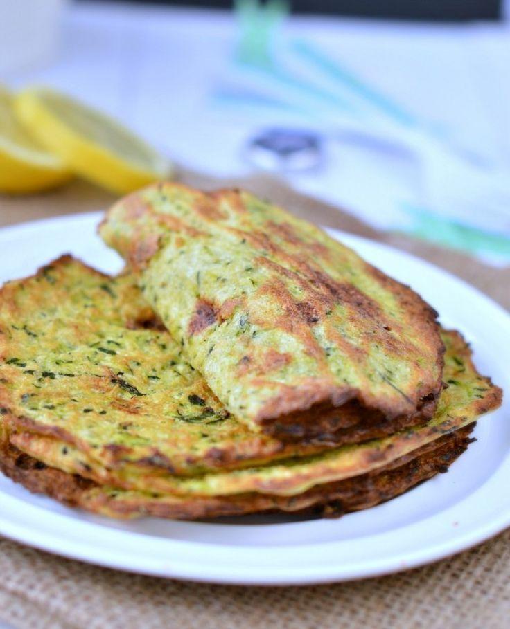 Tacos de calabacín para rellenar con otros ingredientes