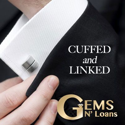 Make a #classy statement for your special occasion with cuff links from Gems N' Loans. #wedding #groom #silverandgold #pawnshop #jewelry