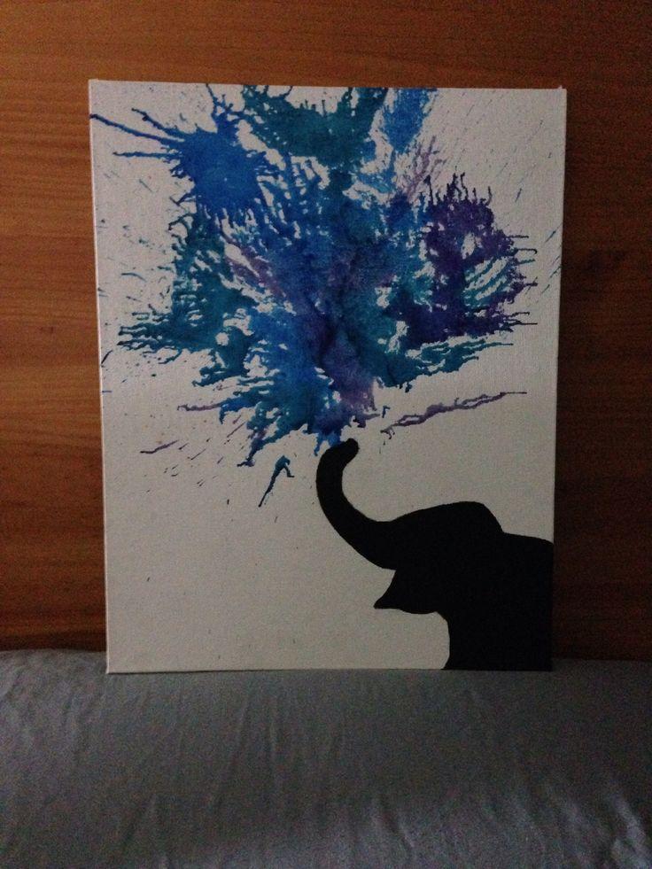 Elephant crayon art <3
