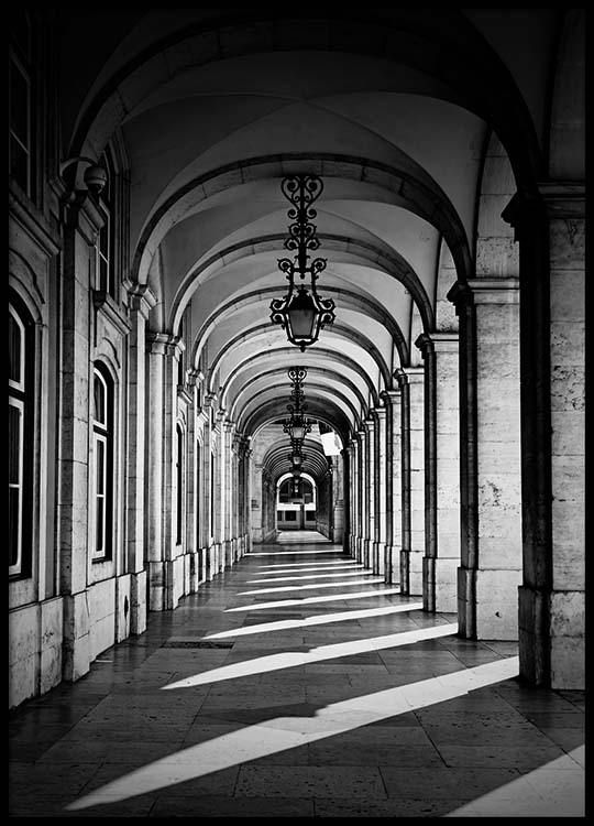 Arched corridor Poster in the group Prints / Sizes / 50x70cm   20x28 at Desenio AB (2564)