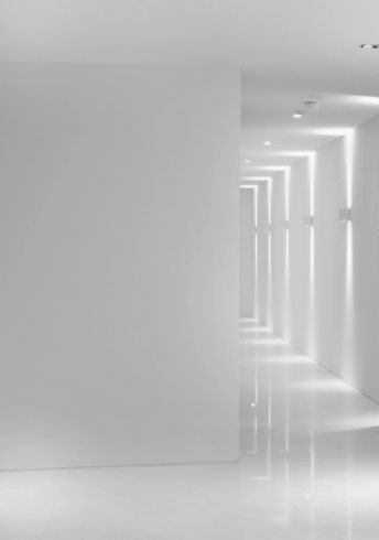 Repetition of indirect lights reflecting on the white surfaces _