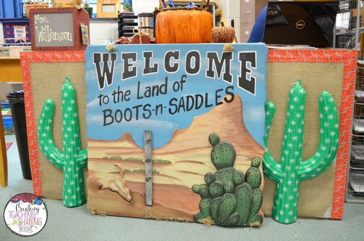 Yee Haw, Partners! This teacher's attention to detail in unbelievable!! Come see her adorable western-themed classroom.