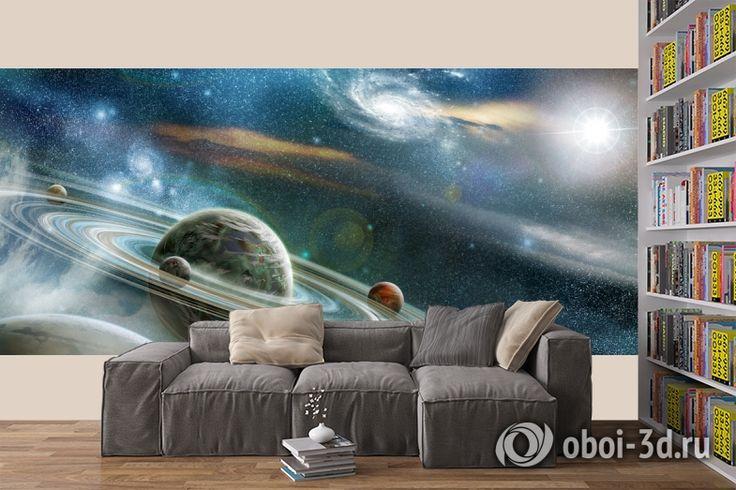 """3D Фотообои """"Космический пейзаж"""""""