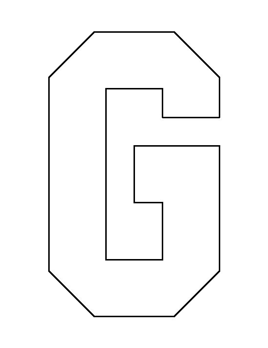 Letter G pattern. Use the printable outline for crafts, creating ...