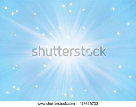 Abstract festive blue background with light stars. Light effect in sky. Digital illustration, fantasy image. For Holiday Art, print, web, album graphic design.