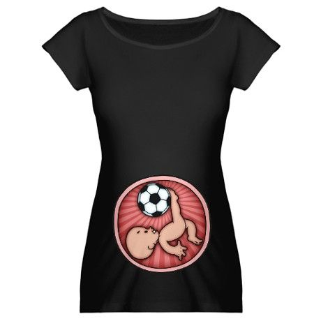Soccer Baby Kick Maternity T-Shirt by kidlings