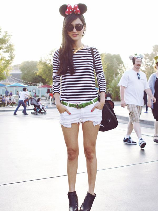 THE SHADY SIDE: street style inspiration: black and white nautical striped shirts