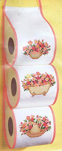 "Floral Toilet Roll Hanger Cross Stitch Kit - 4.4"" x 16.8"" Vervaco http://www.amazon.co.uk/dp/B00NQ04FHK/ref=cm_sw_r_pi_dp_8ydhub13H77GS"