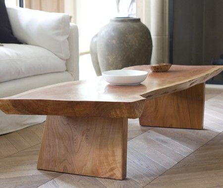 Organic Coffee Table The Tableu0027s Finish Contrasts With The Chevron Floors.  Michel Zelnik Made The