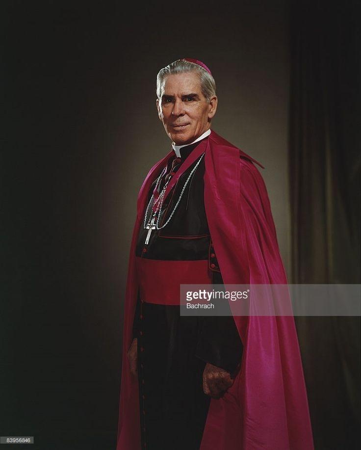 A portrait of the famous Catholic Archbishop Fulton J. Sheen (1895 - 1979), New York, 1964.