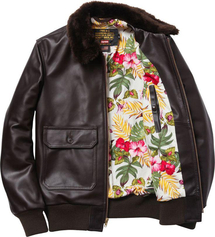 Supreme Schott® Leather Flight Jacket