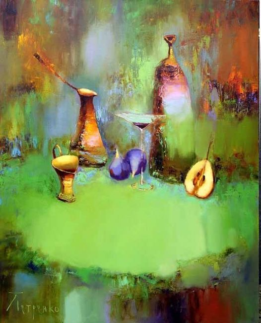Still Life with Fig - Картина,  75x85 cm ©2007 - Yuriy Petrenko -                        Современная живопись