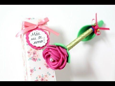 Caneta decorada para o dia das mães