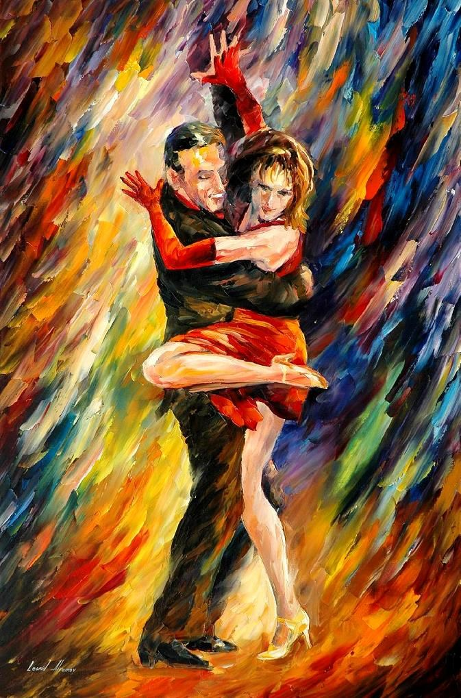 THE SUBLIME TANGO - Palette knife Oil Painting  on Canvas by Leonid Afremov http://afremov.com/THE-SUBLIME-TANGO-Palette-knife-Oil-Painting-on-Canvas-by-Leonid-Afremov-Size-24-x36.html?utm_source=s-pinterest&utm_medium=/afremov_usa&utm_campaign=ADD-YOUR