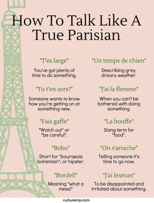 How to talk like Parisians
