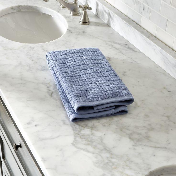 Manhattan Blue Hand Towel - Crate and Barrel