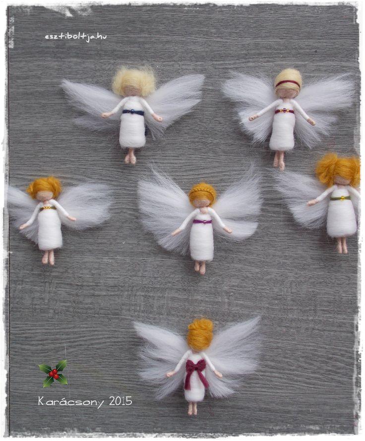 needle felted mini angels
