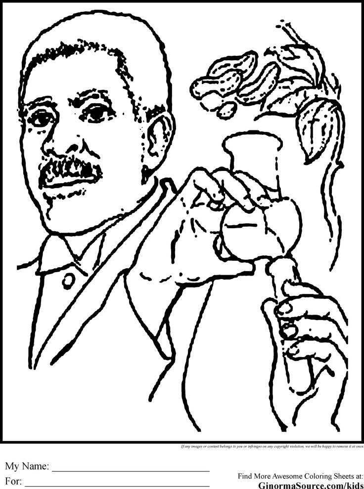 Black History Coloring Page Carver