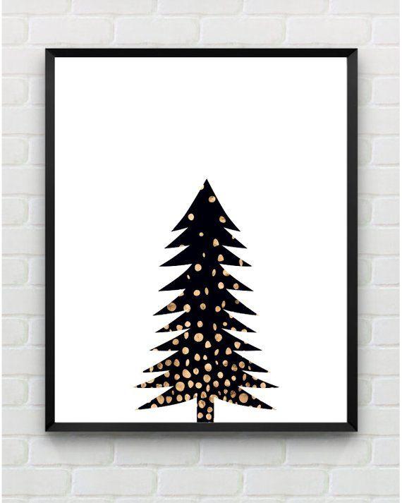 Christmas Printable Wall Art Modern Gold Tree Print Christmas Sign Holiday Wall Decor This Listi Printable Wall Art Christmas Wall Art Holiday Wall Decor
