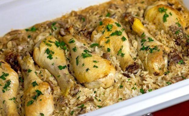 Λεμονάτα μπουτάκια κοτόπουλου με ρύζι