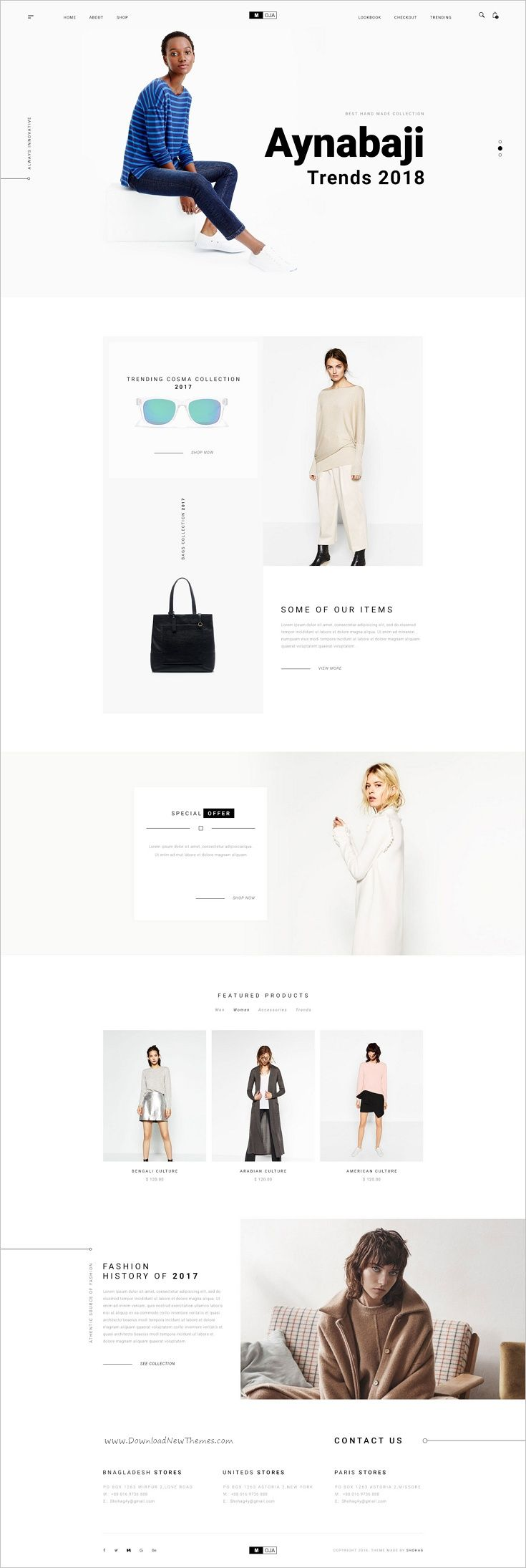 MOJA is a minimal #Photoshop Template for Business, fashion #Product and eCommerce websites download now➩ https://themeforest.net/item/minimal-ecommece-psd-template/19074554?ref=Datasata