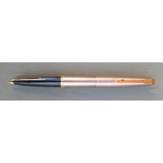 Parker 45 Flighter Chrome with Flat Top Fountain Pen Medium Nib