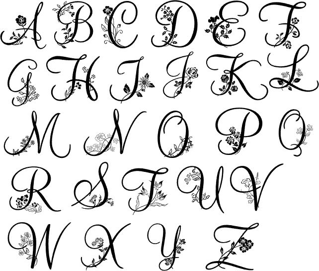 tattoo letter fonts embroidered monogram fonts search 25024