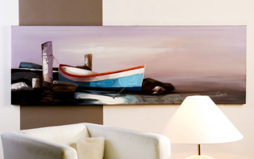 Oil painting BOAT $118