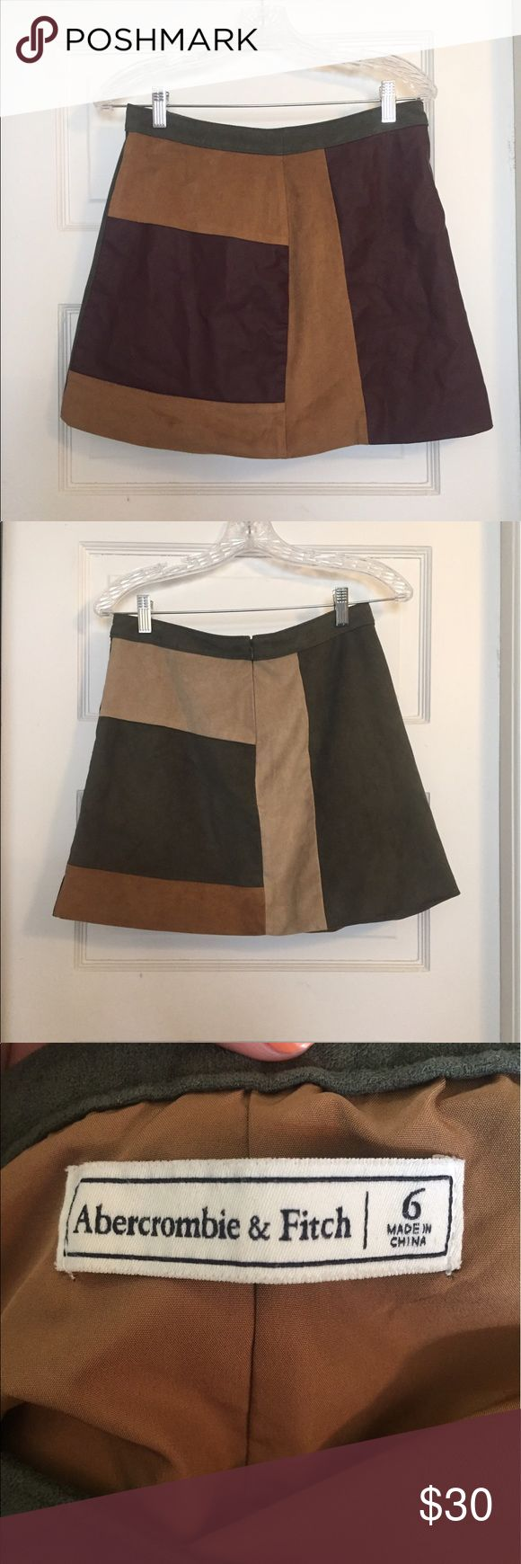 Abercrombie and Fitch skirt Patchwork work, worn only once and washed once. In excellent condition, no rips or stains. The first picture is the front and the second is the back. Abercrombie & Fitch Skirts Mini
