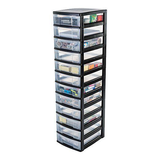 Iris 121780.0 Rollwagen mit fünf Schübe, Beistellwagen, Schubladencontainer, Rollcontainer mit 5 Schubladen, Schubladenschrank, NMC-305, weiß: Amazon.de: Küche & Haushalt
