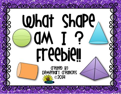 Three Dimensional Shapes from ElementaryCreations on TeachersNotebook.com -  (5 pages)  - Three dimensional shape, printable worksheet, shape poster