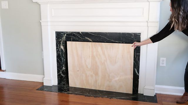 Diy Fireplace Cover Tutorial Ehow Fireplace Cover Diy Fireplace Fireplace