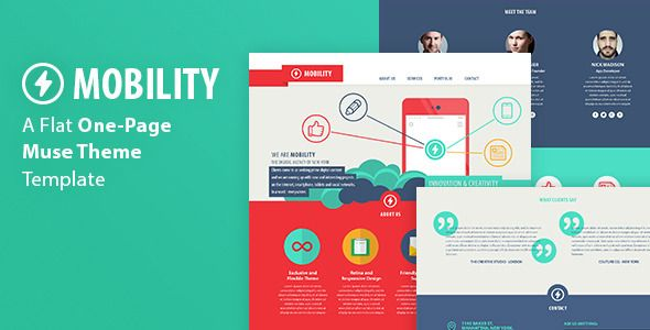 Mobility - One Page Muse Theme (Creative)