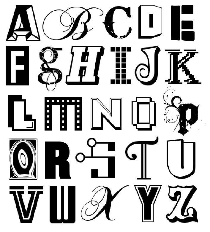 A-Z - Typeface Mixture