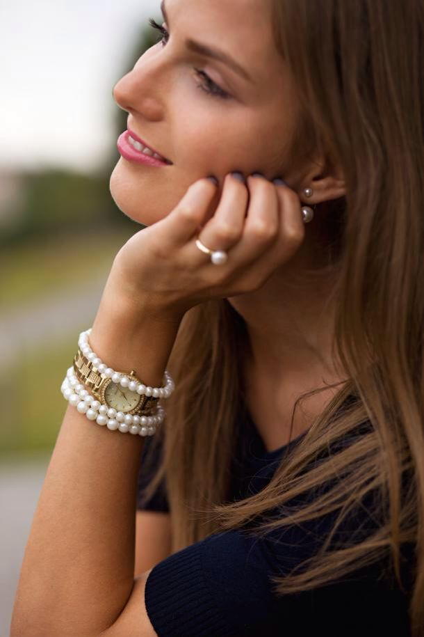 Accessories, pearls, ring, bracelet, golden, gold, jewelry
