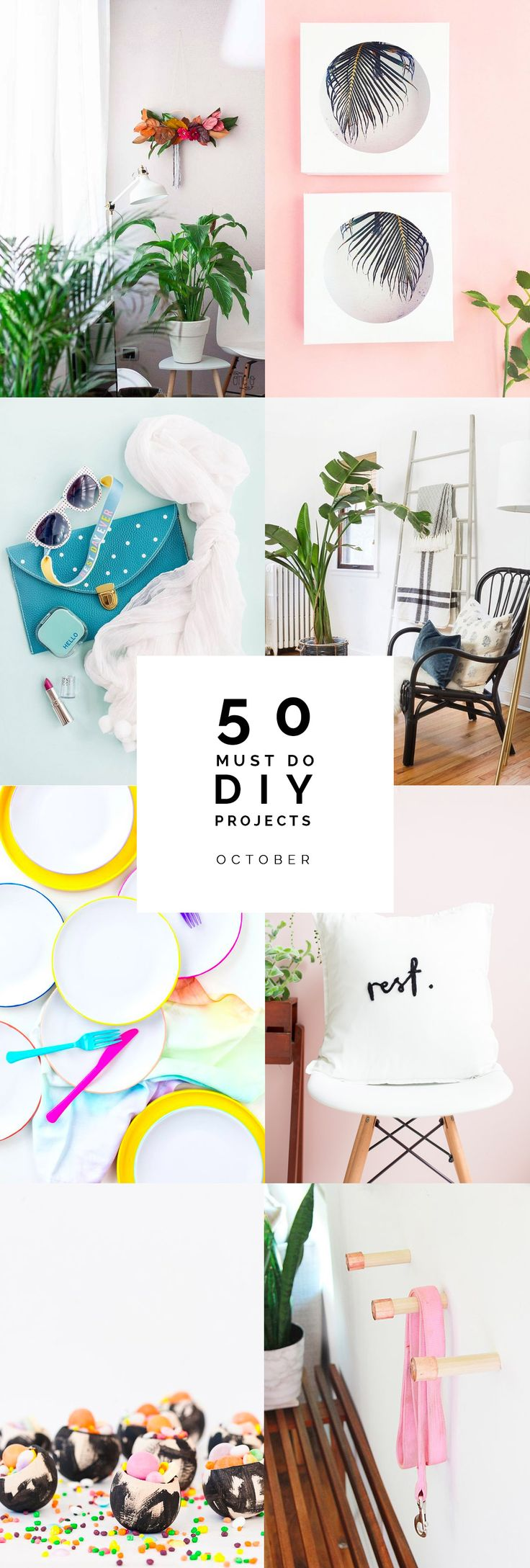 This was a particularly difficult month to put together. Mostly because we've been celebrating the build up to Halloween for the last month and now it's over I'm guessing you guys don't want to see a round up of 50 Halloween project ideas…. nope, thought not (I have no idea what we're going to do …