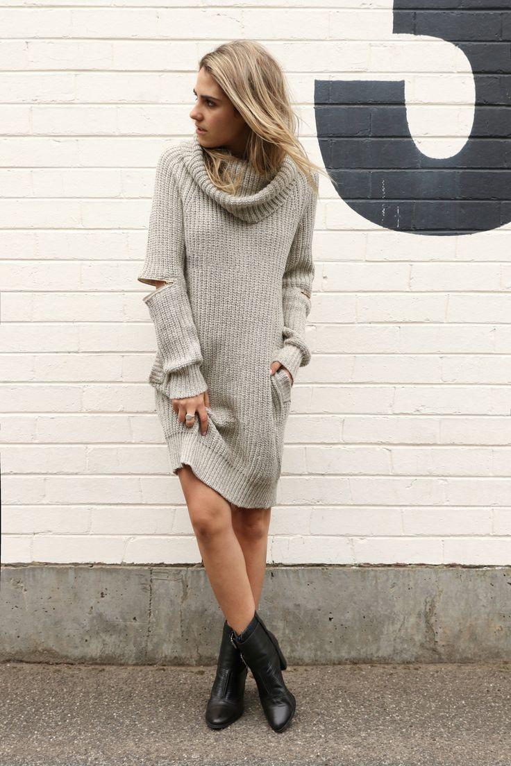 Zip Away Knit Dress