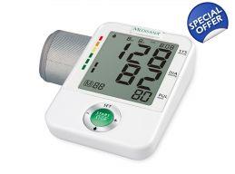 Tensiometru de brat Medisana BU A50 ultraperformant de mare precizie Testat si validat clinic Garantie 3 Ani Afisaj mare, prezinta: Sistola, Diastola, Pulsul, Ora si Data Foarte simplu de utilizat: Un singur buton - START/STOP Memoreaza 60 de masuratori pentru 4 utilizatori diferiti Calculeaza o medie a ultimelor 3 valori masurate Functie detectare tulburari de ritm cardiac (aritmii ) Tensiometre24.com