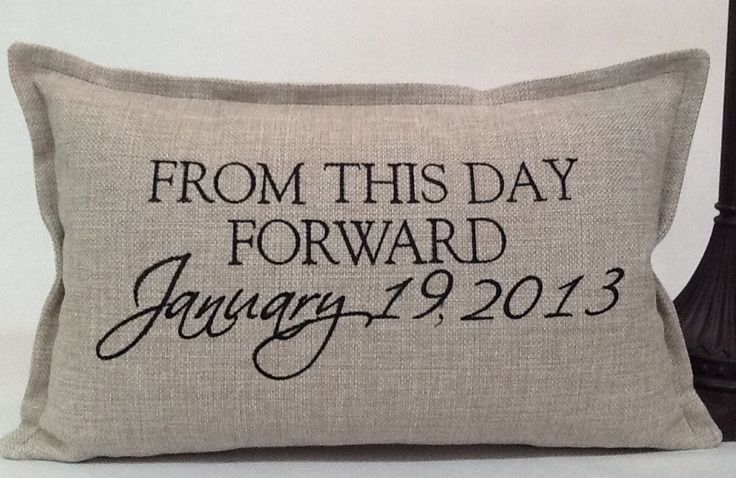From this day forward Embroidered Pillow Cover - Wedding Gift. $58.00, via Etsy.