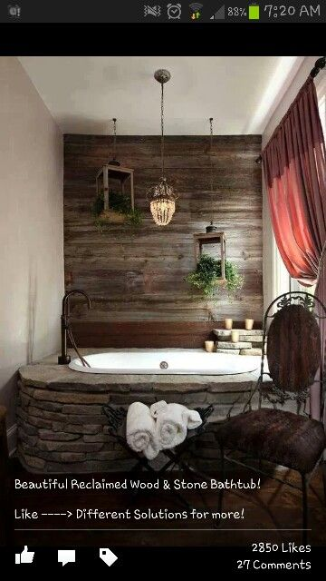 Wood and Stone bathroom