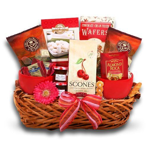 Coffee and Scones Gift Basket | Mom gift basket, Breakfast ...
