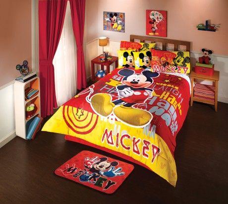 Coordinado de Edredón Mickey Sorpresa #Decoracion #Color # ...
