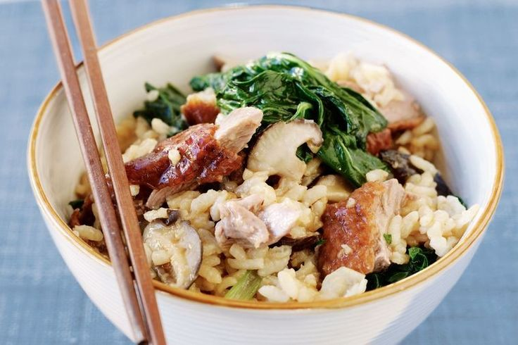 Combine the best of two cultures with this Asian-inspired risotto.