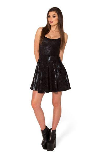 Night Tribe Straps Skater Dress - LIMITED › Black Milk Clothing